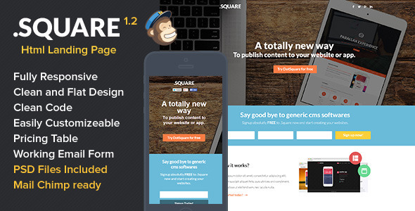 DotSquare HTML Landing Page - Landing Pages Marketing