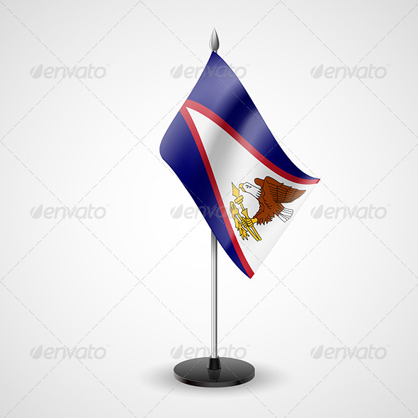 GraphicRiver Table Flag of American Samoa 7569775