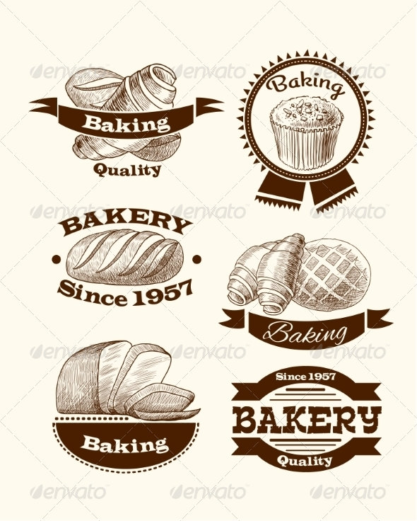 GraphicRiver Pastry and Bread Signs 7569821