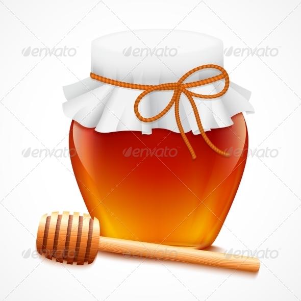 GraphicRiver Honey Jar with Dipper Emblem 7569825