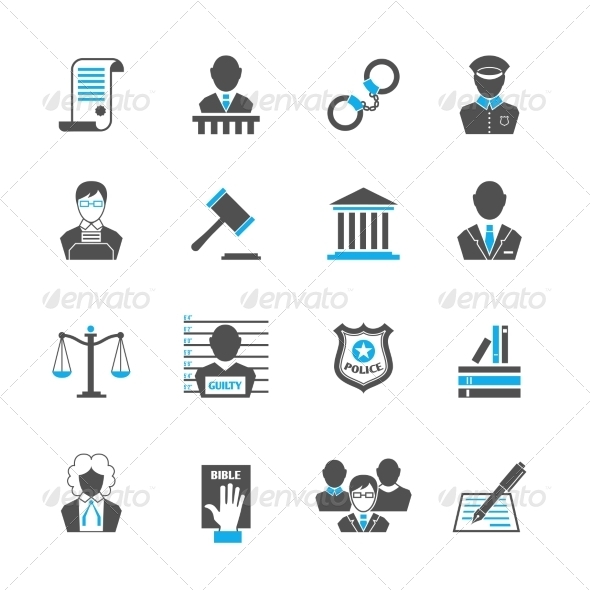GraphicRiver Law Icons Set 7569841