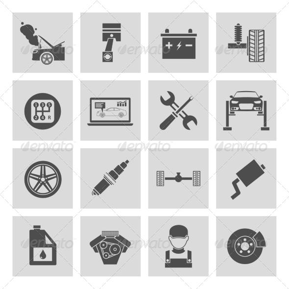 GraphicRiver Auto Service Icons 7569843