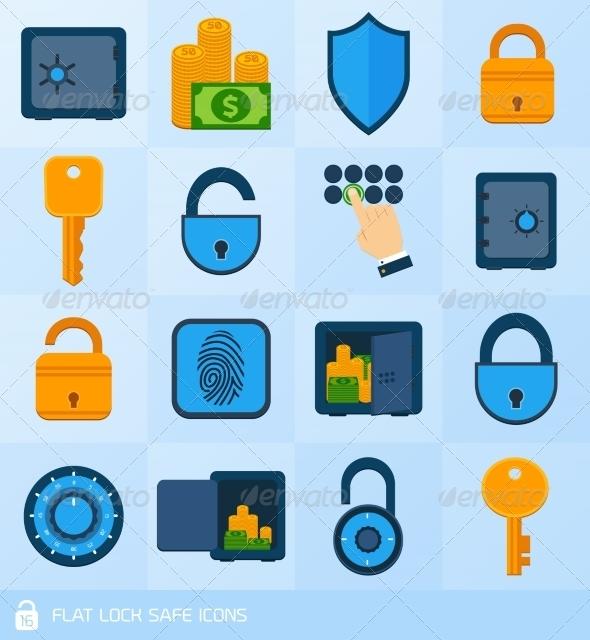 GraphicRiver Lock Safe Elements 7569848