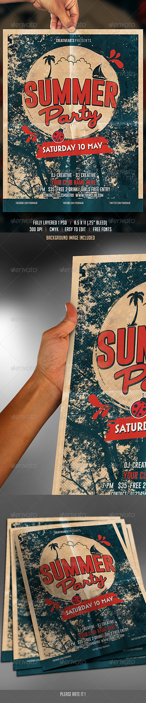 GraphicRiver Vintage Summer Party 7570029
