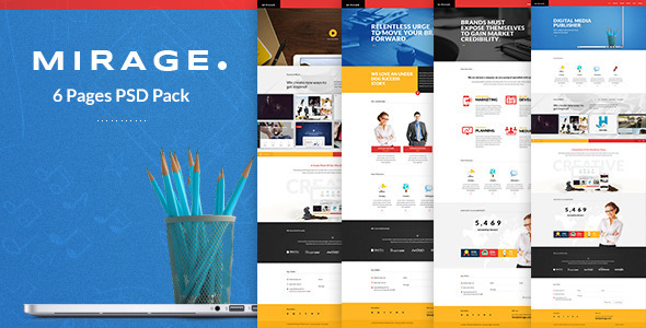 ThemeForest Mirage Multipages PSD Template 7570041