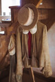Vintage Amish garments hanging from stairs - PhotoDune Item for Sale