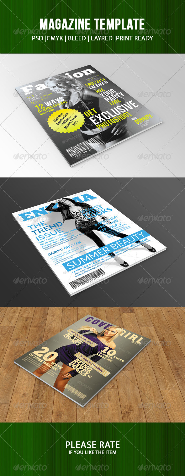 GraphicRiver Magazine Cover Bundle 7570195