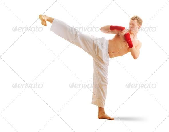 Stock Photo - PhotoDune Man training taekwondo 775516