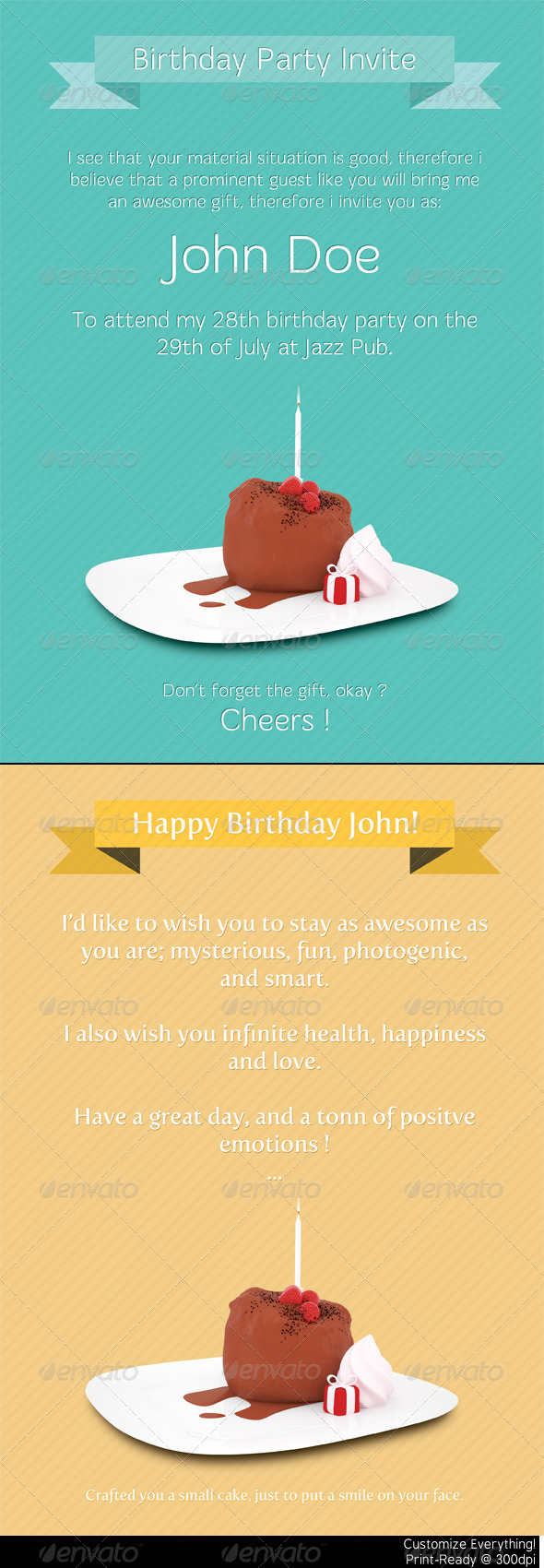 Graphic River Birthday Print Templates Print Templates -  Cards & Invites  Greeting Cards  Birthday 775451