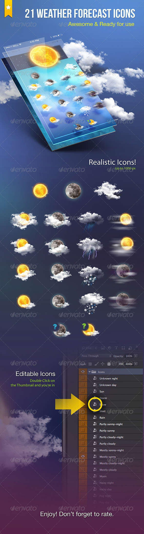 Weather Forecast Icons - Icons