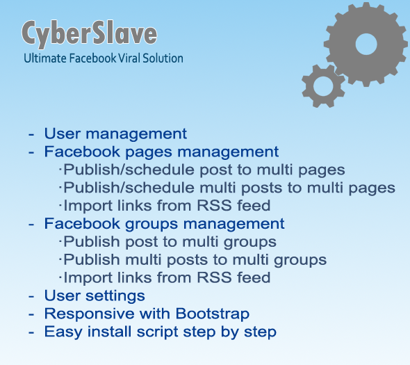 CodeCanyon CyberSlave Ultimate Facebook Viral Solution 7516227