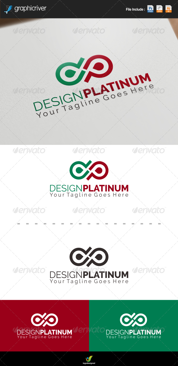 Letter P or D Logo Template