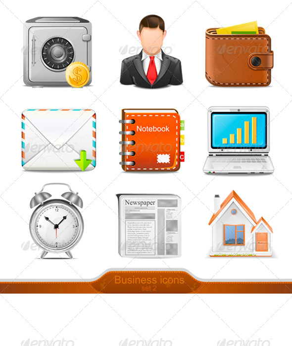 GraphicRiver Business Icons Set 2 7571481