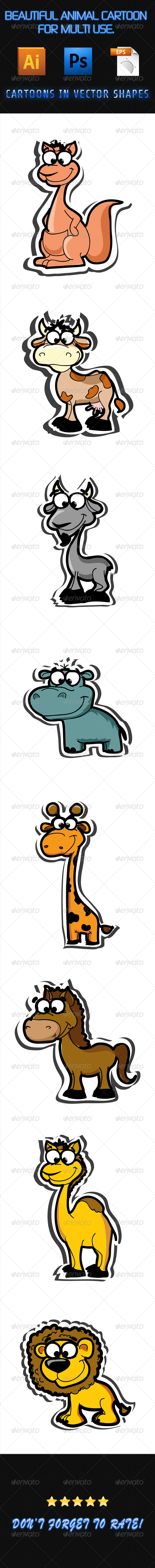 GraphicRiver Animal Cartoons 01 7571491