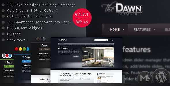theDawn Premium All-in-one WordPress Theme - Blog / Magazine WordPress