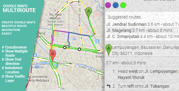 CodeCanyon Multiroute- Google Maps Multiple Route 7559574