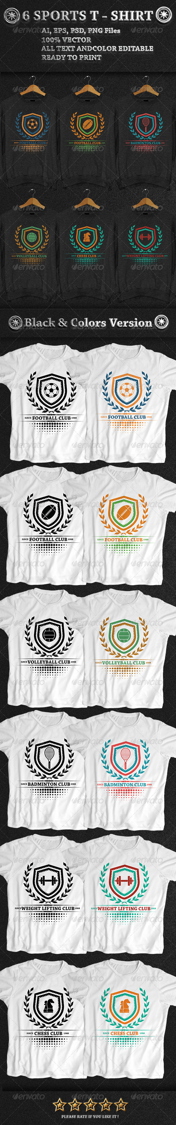 GraphicRiver 6 Sports T-Shirt 7571631