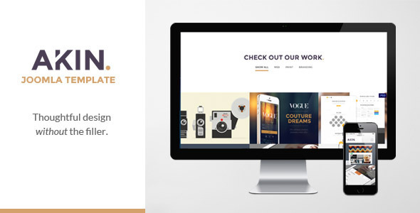 ThemeForest Akin Creative One Page Joomla Template 7513660