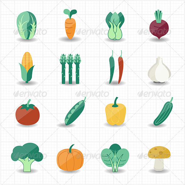 GraphicRiver Vegetables Icons 7571799