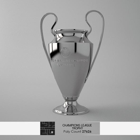 3DOcean Champions League Trophy 3D Model 7571983