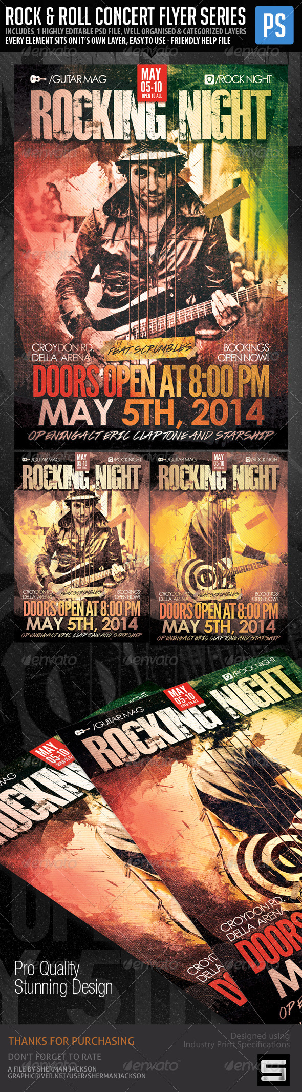 GraphicRiver Concert Club Flyer Poster Rock and Roll V.2 7572037