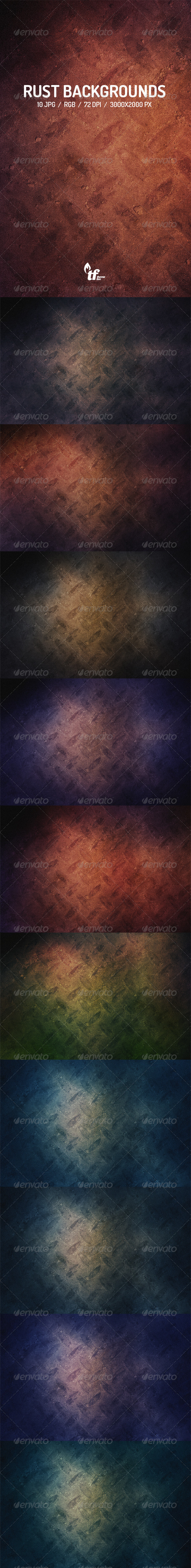 GraphicRiver 10 Rust Backgrounds 7572038
