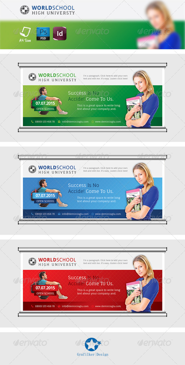 GraphicRiver School Billboard Templates 7572079