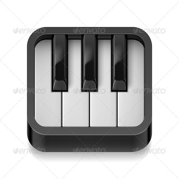 GraphicRiver Piano Icon 7572089