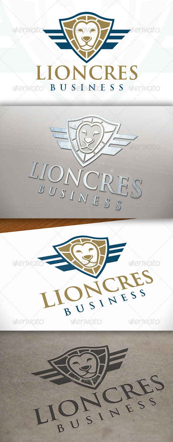 GraphicRiver Lion Shield Logo 7572160