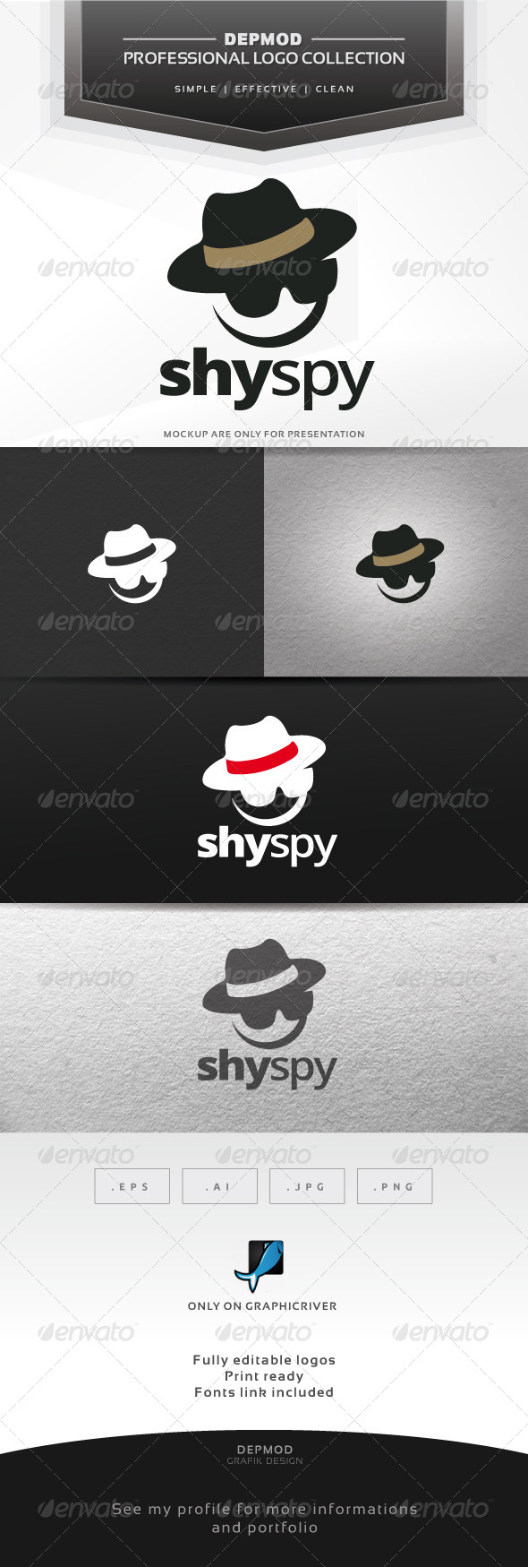 GraphicRiver Shy Spy Logo 7572350