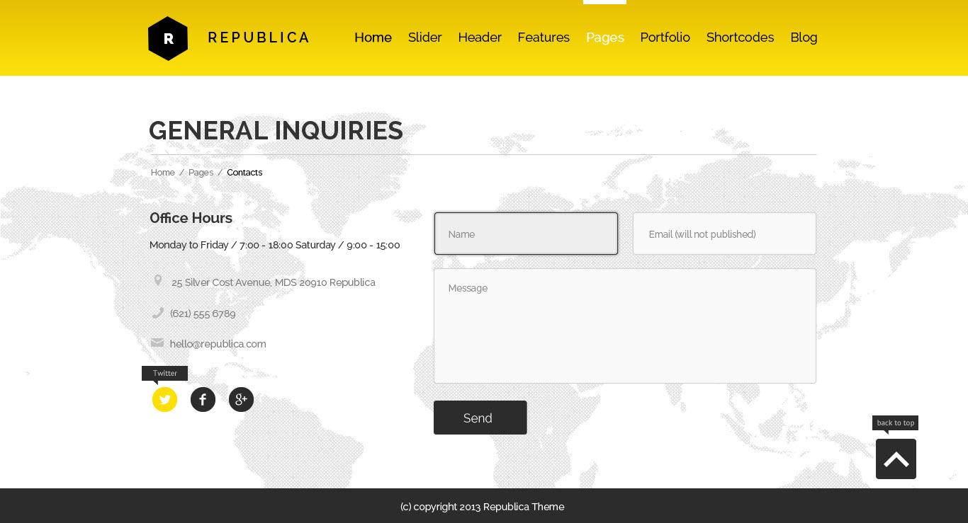 Republica   Responsive Corporate WordPress Theme