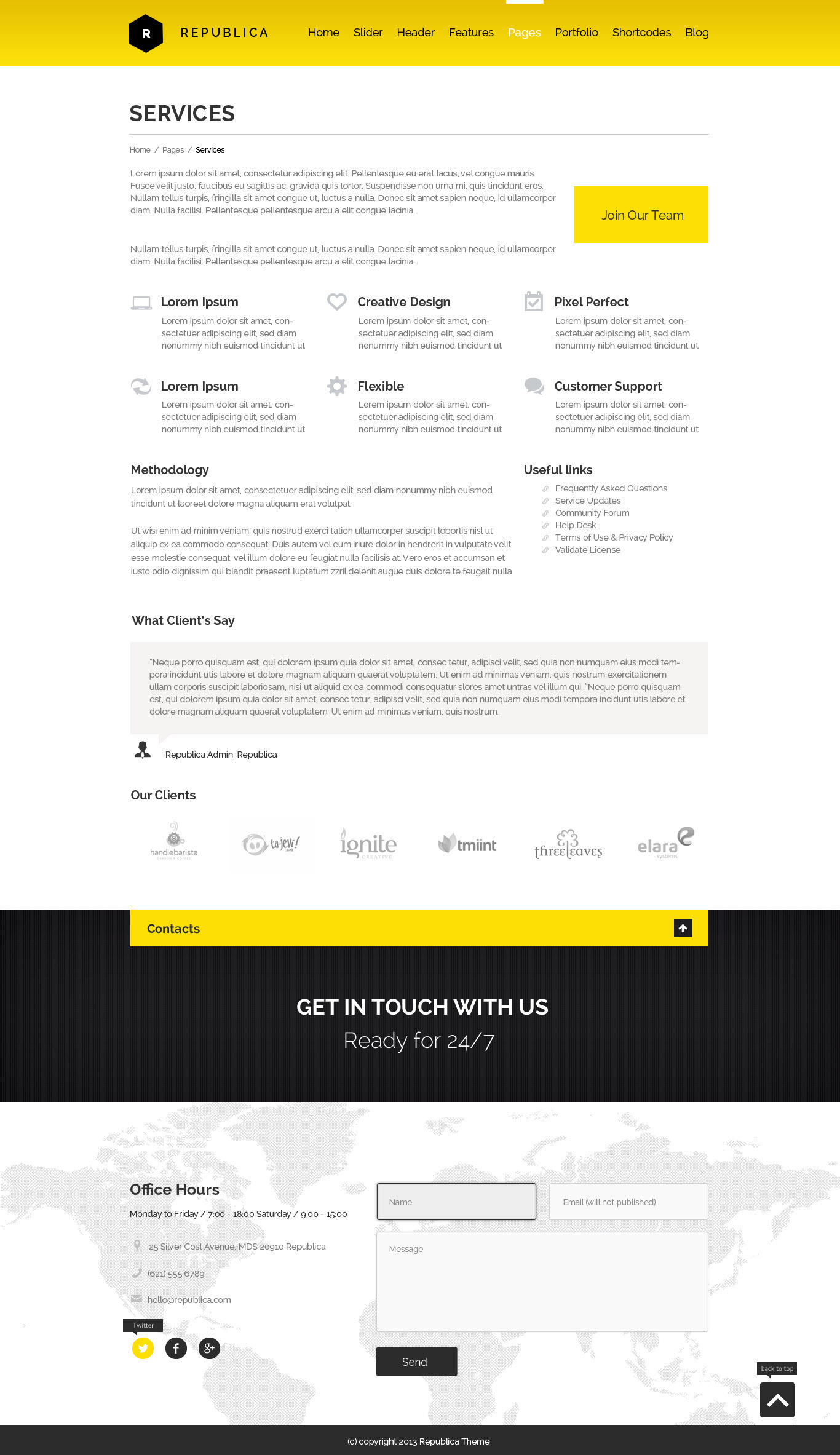 Republica | Responsive Corporate WordPress Theme
