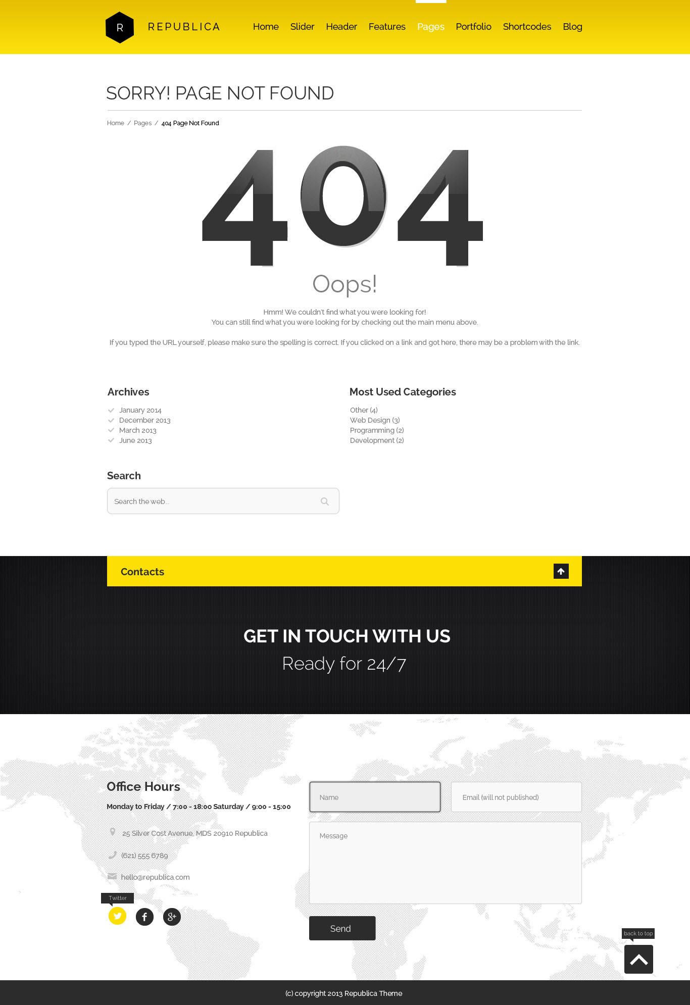 Republica | Responsive Corporate WordPress Theme