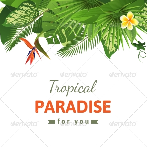GraphicRiver Tropical Background 7572683