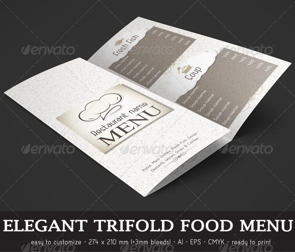 GraphicRiver Elegant Trifold Food Menu 7572686