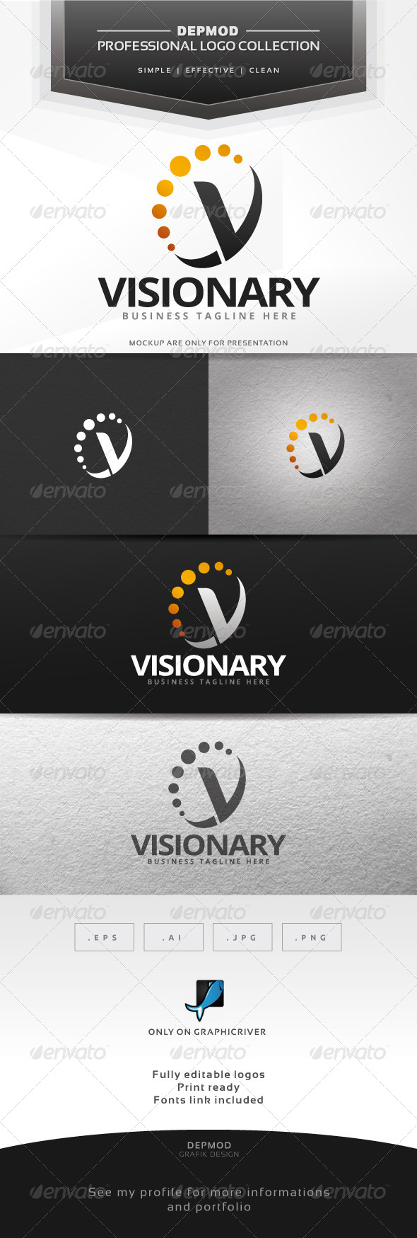GraphicRiver Visionary Logo 7572756