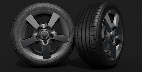 HQ Tyre Model - 3DOcean Item for Sale