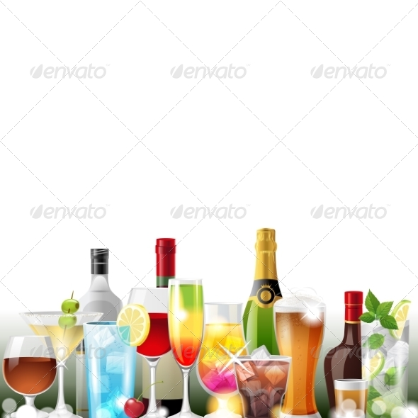 Alcohol Cocktails and Bottles