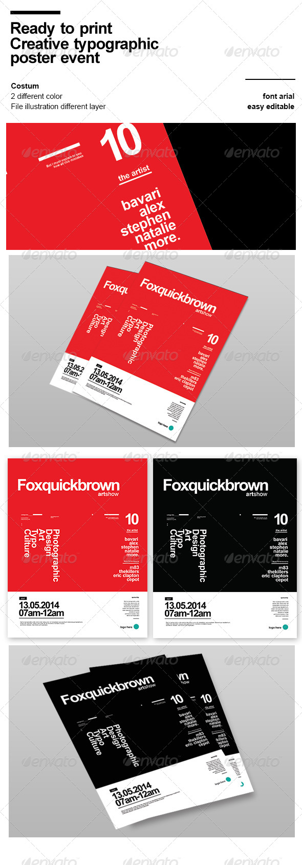 GraphicRiver Creative Typographic Event Flyer 7573468