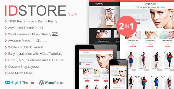 plantillas ecommerce moda IDStore - Responsive Multi-Purpose Ecommerce Theme - WooCommerce eCommerce