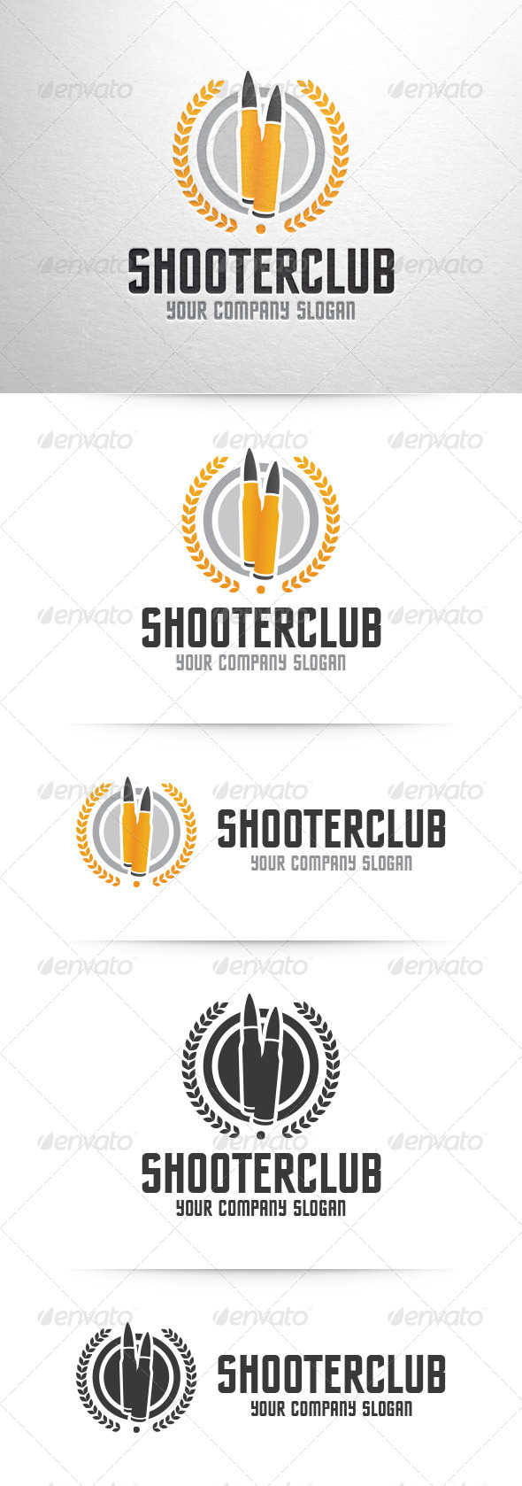 GraphicRiver Shooter Club Logo Template 7573493