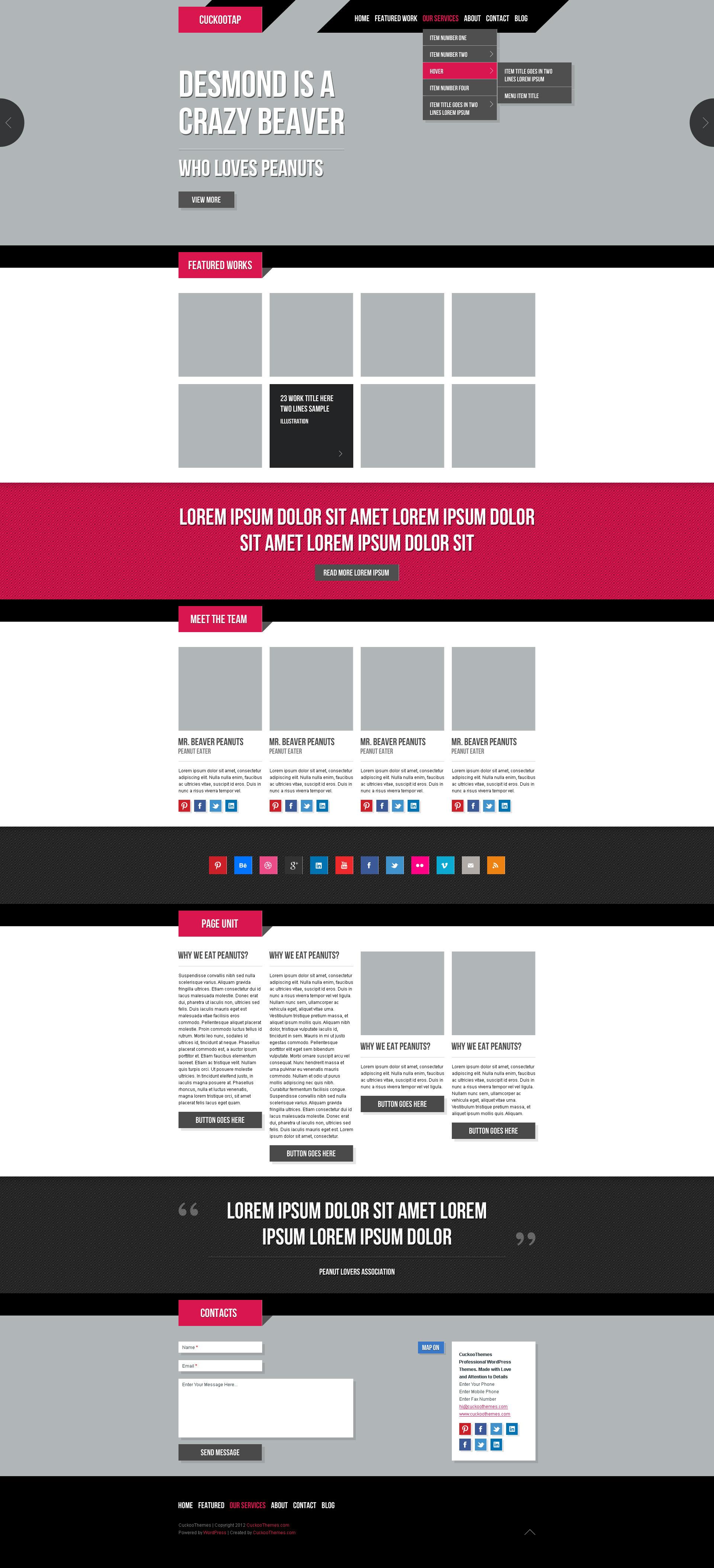 CuckooTap - One Page Parallax WP Theme Plus eShop