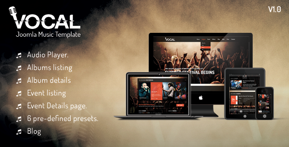 ThemeForest Vocal Responsive Events & Music Template 7573616
