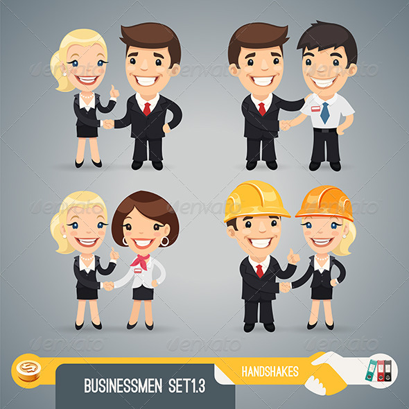 Businessmen Cartoon Characters Set1.3