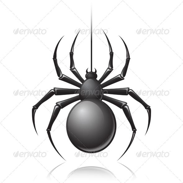 GraphicRiver Black Spider Emblem 7573774