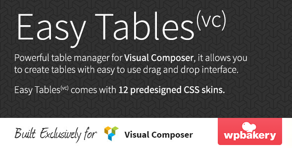 5. Easy Tables - Table Manager for Visual Composer