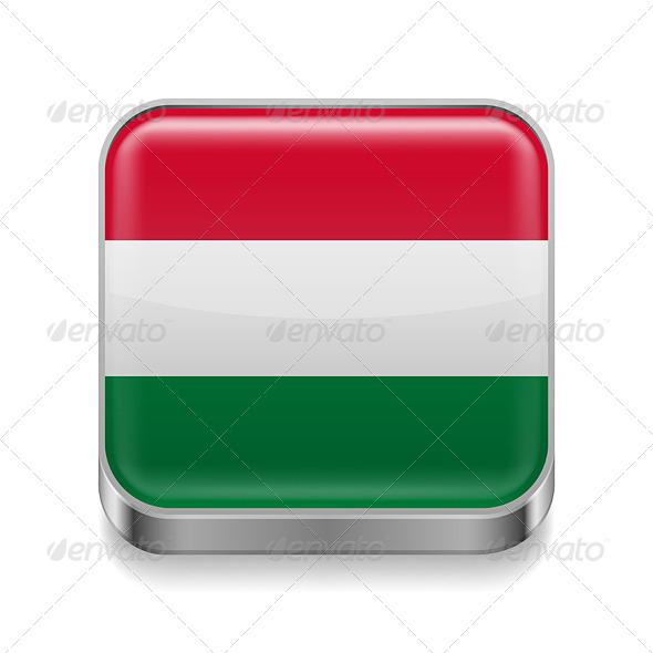 GraphicRiver Metal Icon of Hungary 7573911