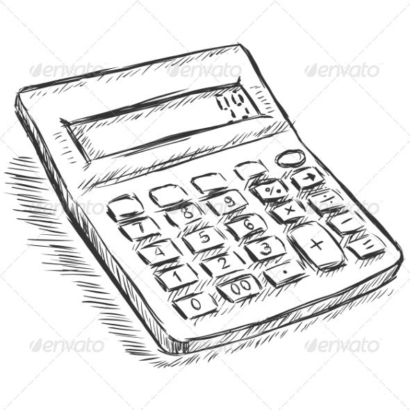 GraphicRiver Calculator Sketch 7573931