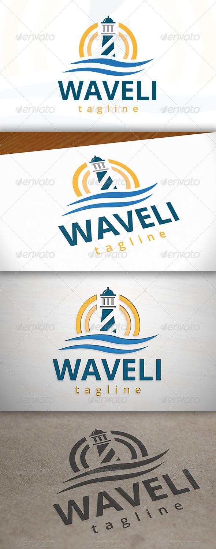 GraphicRiver Wave Lighthouse Logo 7573946