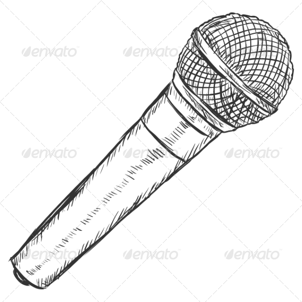 GraphicRiver Dynamic Microphone Sketch 7573947